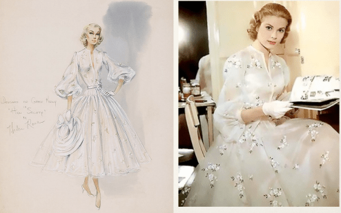 Vestuario de Grace Kelly por Helen Rose para High Society 1956