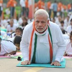 The Prime Minister, Shri Narendra Modi participates in the mass yoga demonstration at Rajpath on the occasion of International Yoga Day, in New Delhi on June 21, 2015.