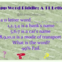 Whatsapp Word Riddle: A 11 Letter Word