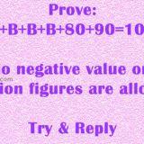 Prove: A+B+B+B+80+90=100