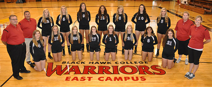 Women's volleyball team at East Campus