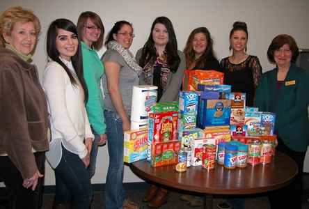 East Campus PTK food pantry 2-14