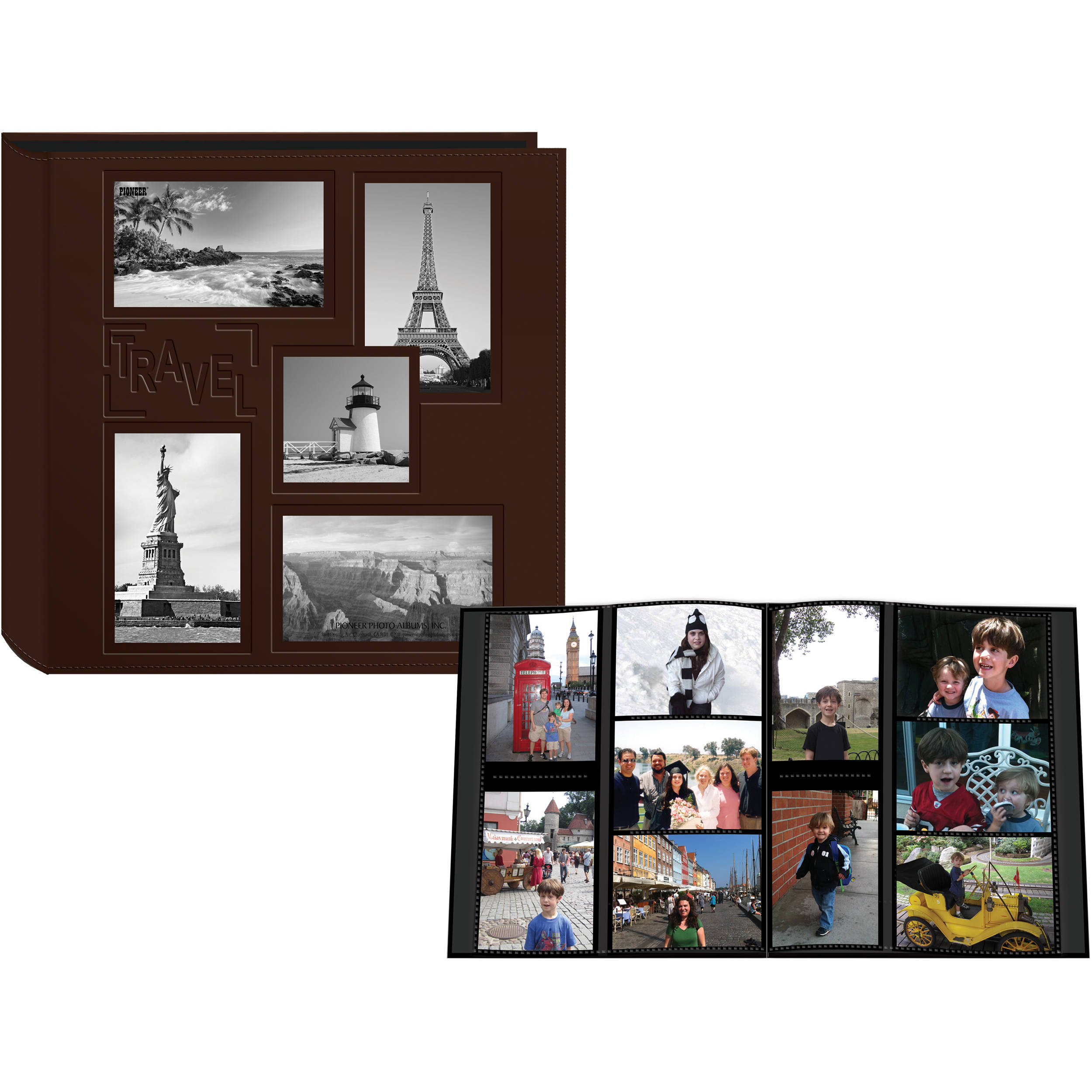 Snazzy Pioneer Photo Albums Collage Frame Embossed Sewn Learette Photo Album Pioneer Photo Albums Collage Frame Embossed Photo Frame Collage Ideas Photo Frame Collage Set houzz 01 Photo Frame Collage