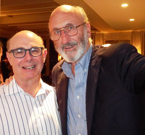 John Heller, who conceived of the exhibition, with Noel Paul Stookey