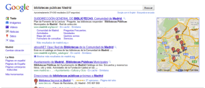 bibliotecas Madrid Google Maps