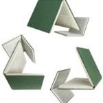 Logo del reciclaje formado con libros