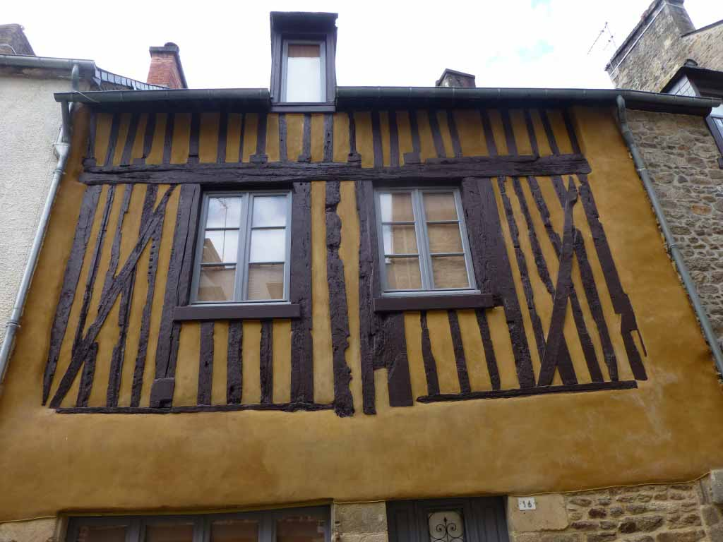 Half timbered house in Dinan, North-West France