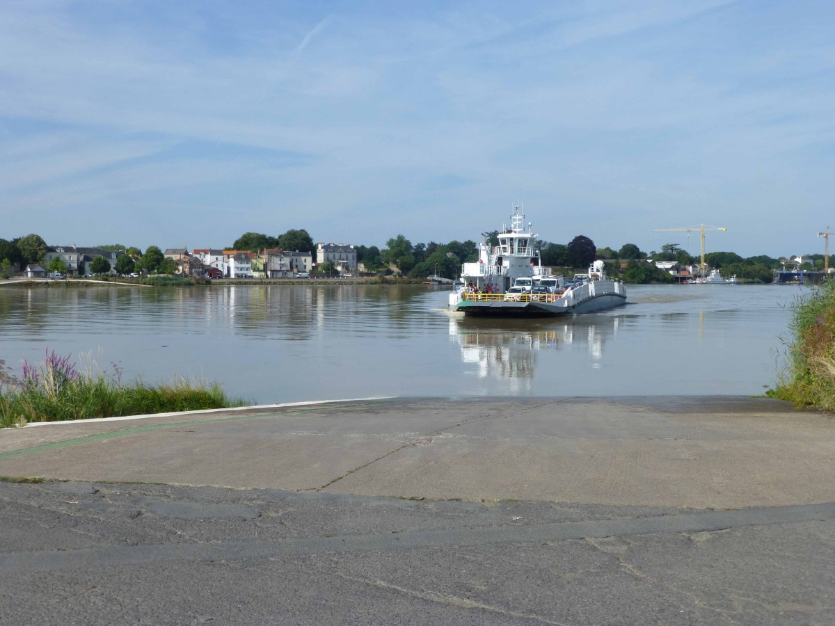Photograph of the Loire River ferry