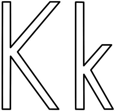 Letter K - Coloring Page (Alphabet)