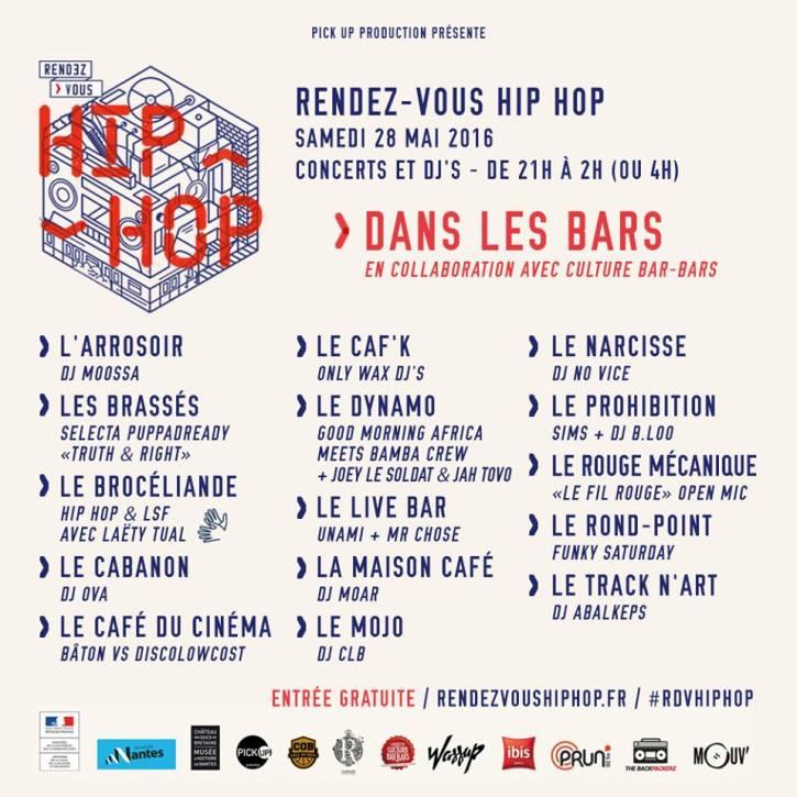 rendez-vous hip hop bars de nantes