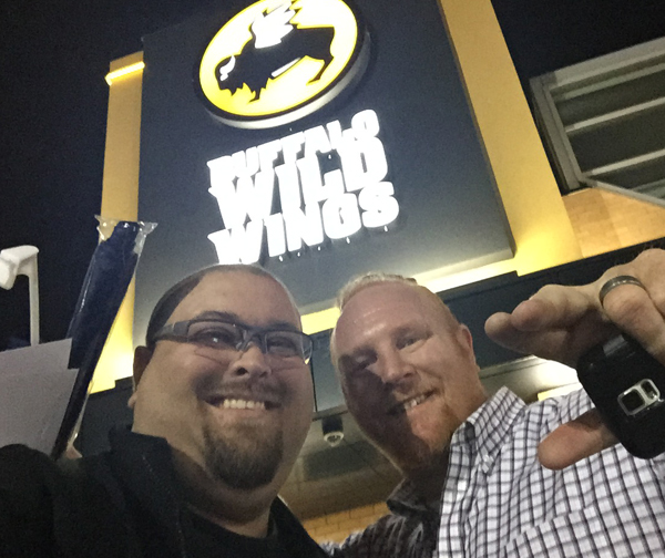 BDUBS steve and me outside