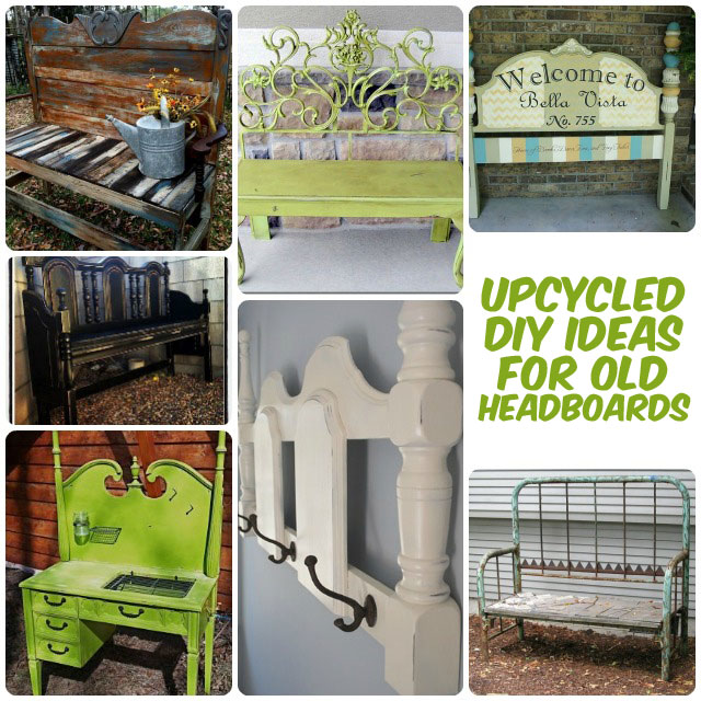 32 new upcycled diy ideas for old headboards big diy ideas for Diy upcycling projects