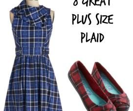 plaid dress and shoes