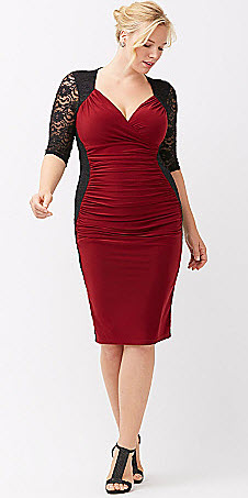 red dress for a plus size women