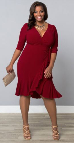 Red dress the best fitting compnay for a curvy girl made in america Plus Size Fashion for women