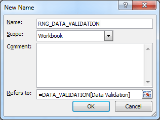 Data Validation Name Range