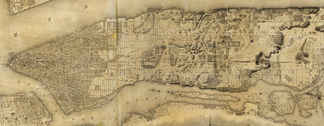 Colton s Topographical Map of New York  1836  Topographical Map Of The City and County Of New   York wide thumbnail image