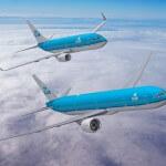 KLM vliegtuigen