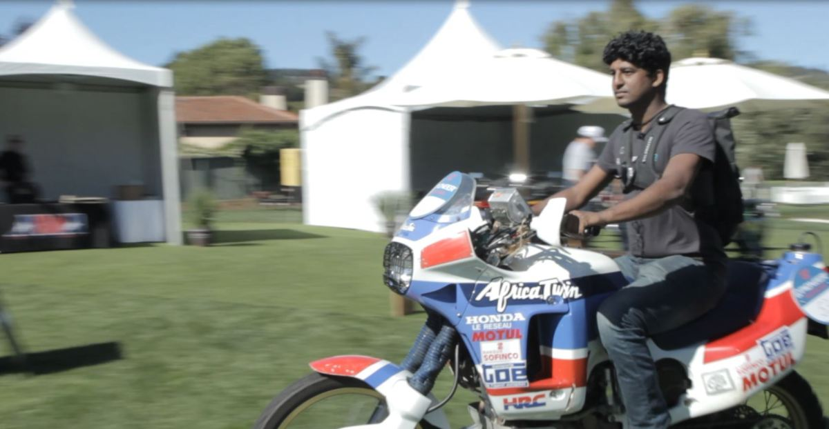 Video Intermission - 1989 Honda Africa Twin Marathon at the 2016 Quail