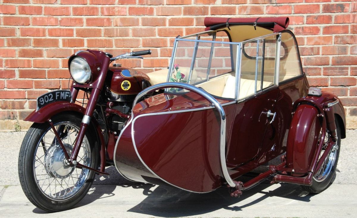1956 Ariel Square Four with Garrard Sidecar