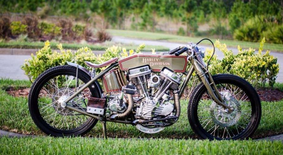 1954 Harley Davidson Panhead Board Tracker