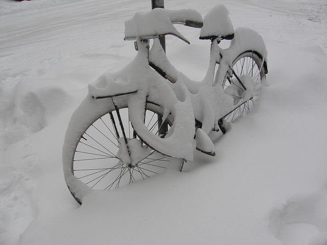 snow cycling by maurocorsini via Flickr