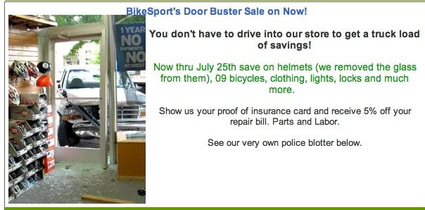 Sale, yes. Door prize, no.
