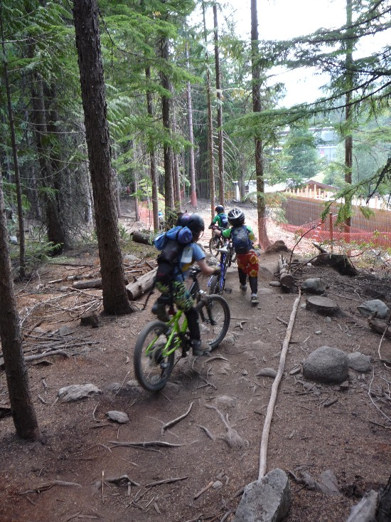 Young rippers mix it up near Lost Lake