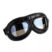 Ediors-WWII-RAF-Vintage-Pilot-Style-Flying-Motorcycle-Motorcross-Biker-Caf-Racer-Cruiser-Chopper-Touring-Helmet-Goggles-Sun-UV-Wind-Eye-Protect-Black-Frame-Clear-Lens-0