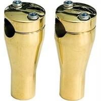 Paughco-Brass-Handlebar-Riser-4in-Glide-Style-with-Thru-Hole-350ABR-0