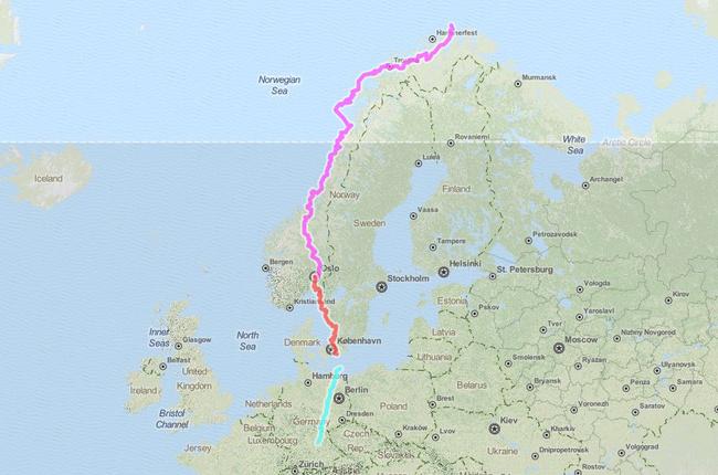Die Route einer Radreise: Der Weg ist das Ziel