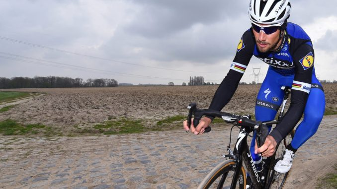 Cycling: Training Paris-Roubaix 2016Tom BOONEN (Bel) Team Etixx- QS (Bel)/ Entrainement Parijs PR © Tim De Waele