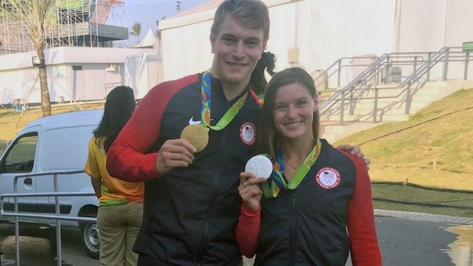 Alise and Connor before Press Conference