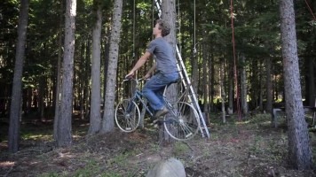 Bike Elevator For Treehouse (Videos)