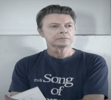 David Bowie from the new video