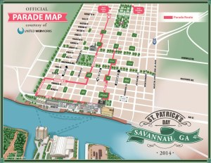 St. Patricks Parade Map
