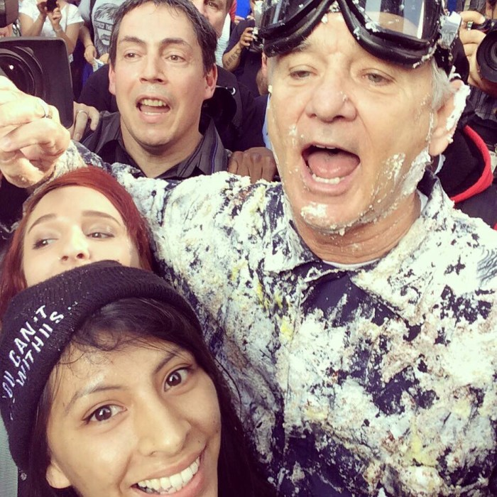 Bill Murray covered in cake