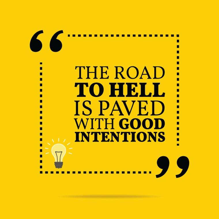 Stop Intending