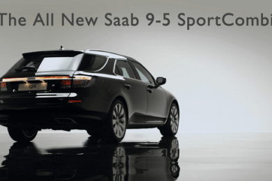 Saab 9-5 sportcombi video i 20111 foer geneve