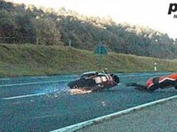 Falder af motorcyklen ved fartkamera