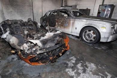brandattentat luksusbiler
