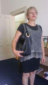 Another happy Bimbo bag gift customer