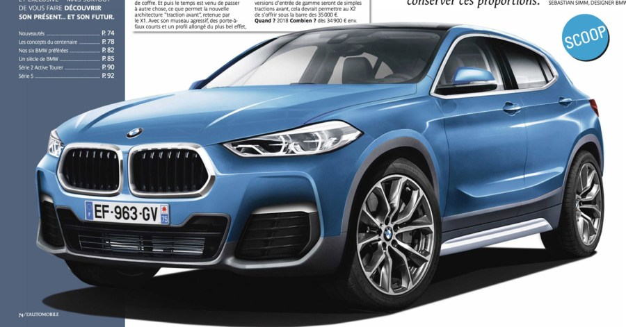 Production BMW X2 Rendered Attached Images