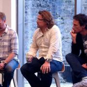 The Innocent founders - Richard, Adam and Jon - at a question and answer session