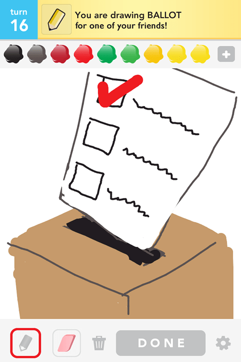 Draw Something - Ballot