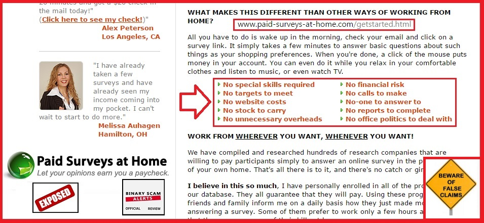 Quick Cash System Scam Promoted by Work from Home ...