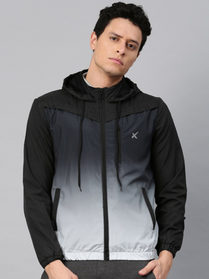 HRX by Hrithik Roshan Men Black Solid Hooded Sporty RAPID-DRY Jacket - Rs.2799