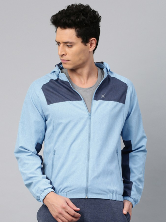 HRX by Hrithik Roshan Men Blue Solid Sporty RAPID-DRY Jacket - Rs.2699