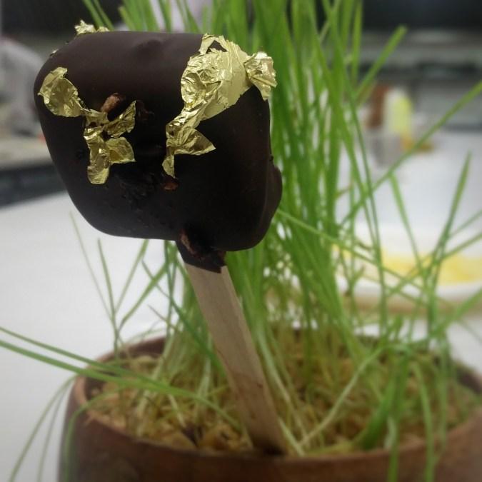 Black rice%2c palm jaggery ice cream 2