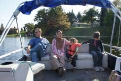 Chilling on Uncle Jan's boat